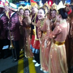 Italian Band, Brunei dancers on right