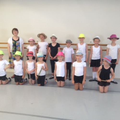 Junior dance class with tutor Mrs Seque
