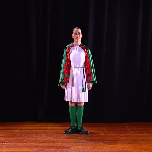 Girls Irish Jig uniform with Red Cape