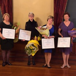 60 year bar recipients, Averil Bray, Mary Pat Hoare, Yvonne Darling, Johanna Lees